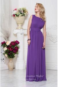 Фиолетовое платье на выпускной фото