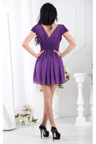 Фиолетовое платье с пышной юбкой в Киеве - Фото 3