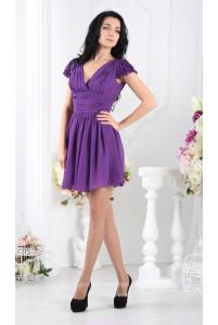 Фиолетовое платье с пышной юбкой фото