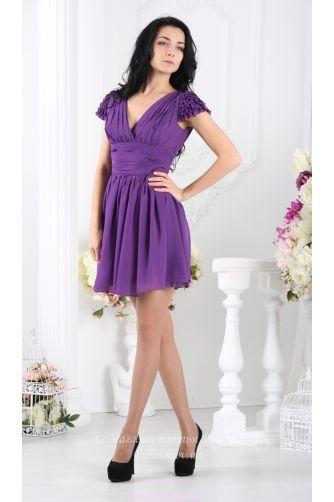 Фиолетовое платье с пышной юбкой в Киеве - Фото 1