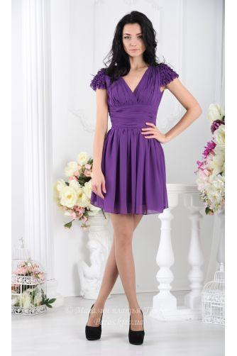 Фиолетовое платье с пышной юбкой в Киеве - Фото 5