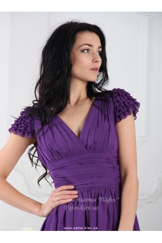 Фиолетовое платье с пышной юбкой в Киеве - Фото 2