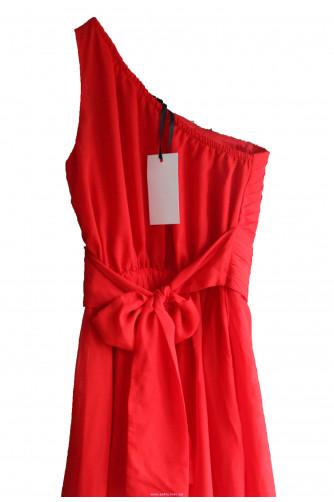 Красное платье в пол на одно плечо в Киеве - Фото 3