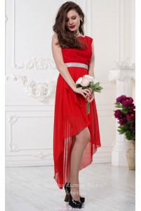 Платье с хвостом и кружевом фото