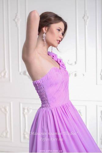 Лиловое платье на одно плечо в Киеве - Фото 4