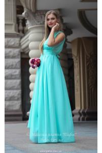 Мятное платье в греческом стиле фото