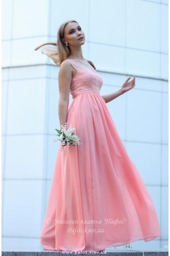 Персиковое платье для выпускницы в Киеве - Фото 6