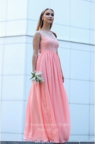 Персиковое платье для выпускницы в Киеве - Фото 4
