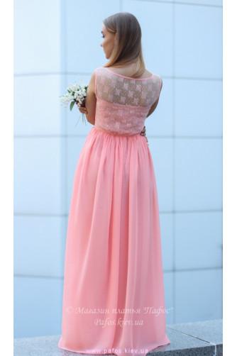 Персиковое платье для выпускницы в Киеве - Фото 7