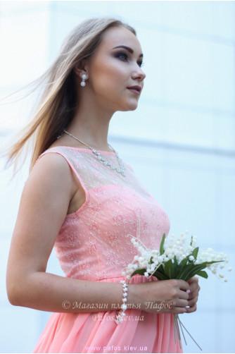 Персиковое платье для выпускницы в Киеве - Фото 5