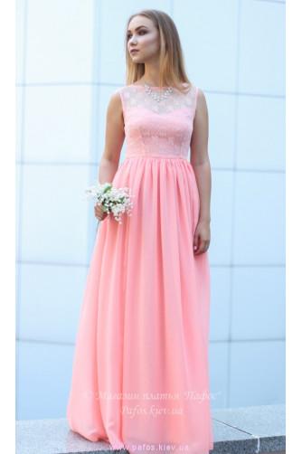 Персиковое платье для выпускницы в Киеве - Фото 2