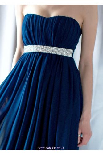 Длинное синее платье с камнями в Киеве - Фото 3