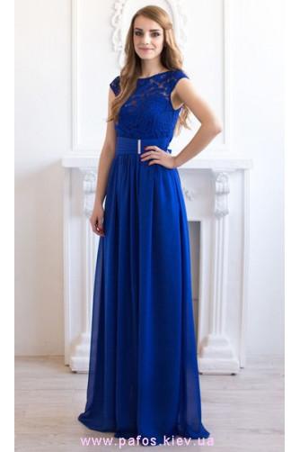 Синее платье с кружевом в Киеве - Фото 1