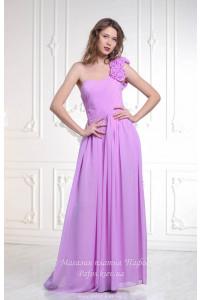 Лиловое платье на одно плечо фото