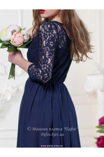 Кружевное синее платье в Киеве - Фото 4