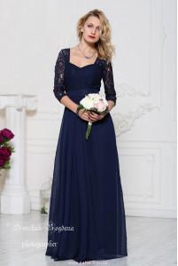 Выпускное платье с кружевом фото