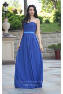 Синее платье корсетное фото