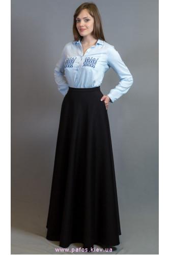 Черная длинная юбка с карманами в Киеве - Фото 1