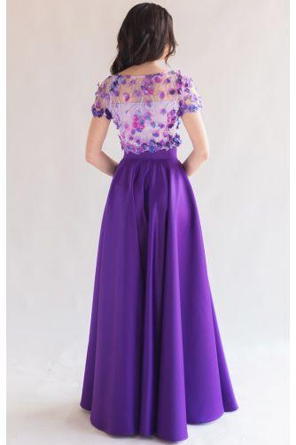 Длинная атласная юбка фиолет в Киеве - Фото 3