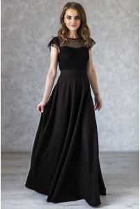 Длинная черная юбка фото