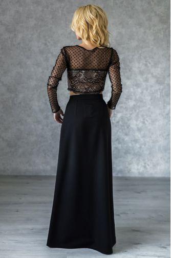 Длинная черная юбка А-силуэта в Киеве - Фото 2