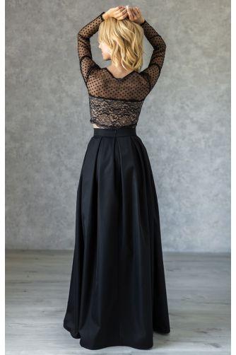 Длинная нарядная юбка в складку черная в Киеве - Фото 2