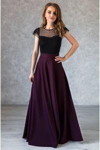 Длинная винная юбка фото