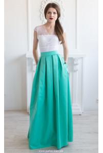 Макси юбка с карманами фото