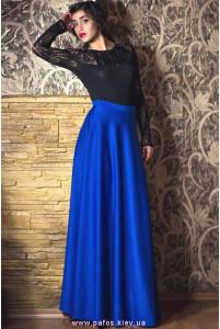 Длинная трикотажная юбка фото
