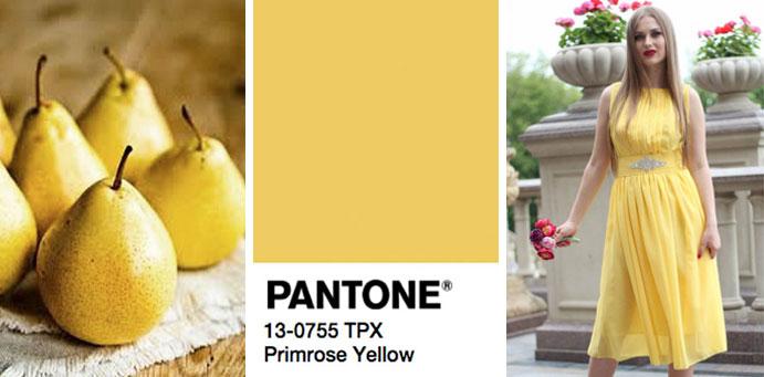 Фото бледно-желтого цвета пантон для платьев от магазина женской одежды Пафос