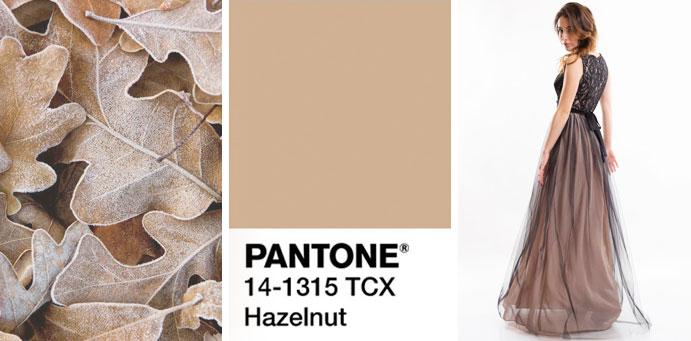 Фото цвета лесного ореха пантон для платьев от магазина женской одежды Пафос