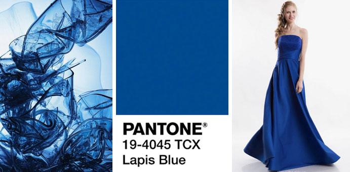 Фото цвета синий ляпис пантон для платьев от магазина женской одежды Пафос