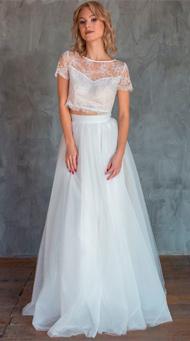 Фото свадебного образа с юбкой в пол