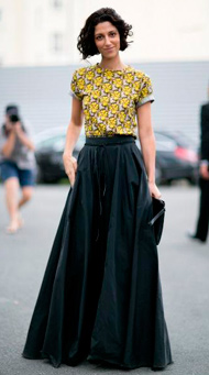 Фото длинной юбки в пол с блузой