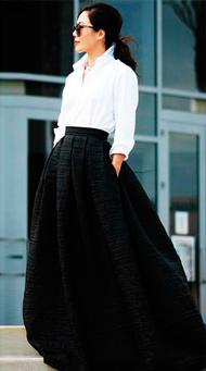 Фото длинной юбки в пол с рубашкой