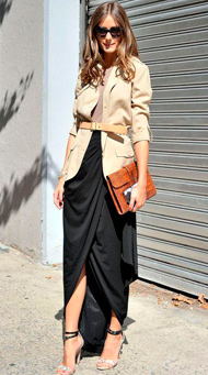 Фото длинной юбки в пол с жакетом