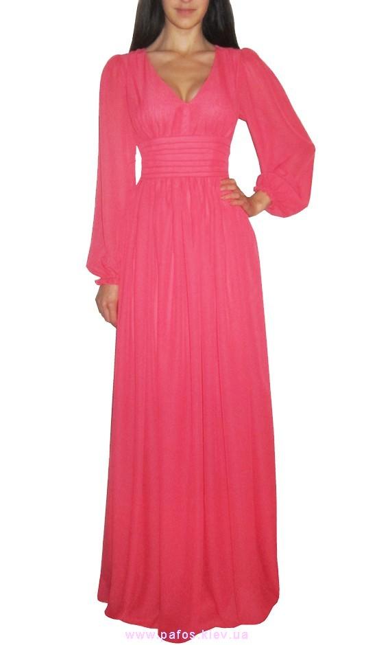 Фото платья длинное шифоновое