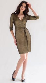 Фото золотого коктейльного платья в клуб