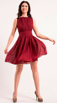 Фото короткого красного платья выше колена