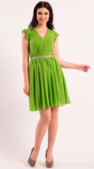 Фото зеленого коктейльного платья на свадьбу