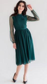 Фото коктейльного платья для женщин зеленого цвета