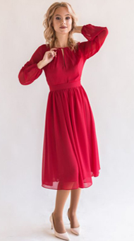 Фото красного коктейльного платья для женщин