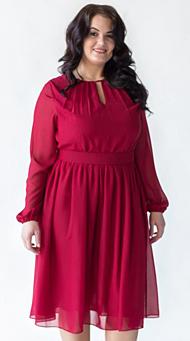Фото красного коктейльного платья большого размера