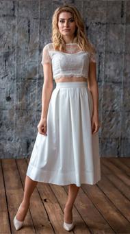 Фото коктейльного свадебного платья цвета айвори