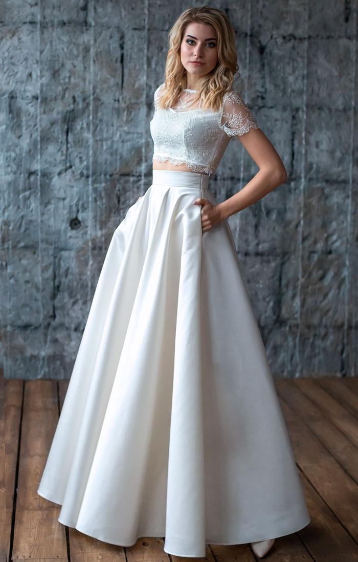 Свадебный комплект топ и юбка купить в Киеве - цена, фото, описание, отзывы    интернет-магазин женской одежды Пафос 1c1fc7be5f2