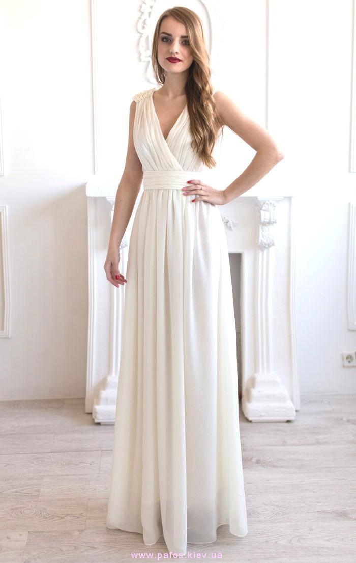 Молочное вечернее платье купить (Киев и Украина)   Интернет магазин Пафос 9ec7c79613e